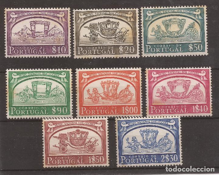 1952 PORTUGAL MUSEO NACIONAL DE COCHES YVERT 752/9 - SCOTT 739/46 (Sellos - Extranjero - Europa - Portugal)
