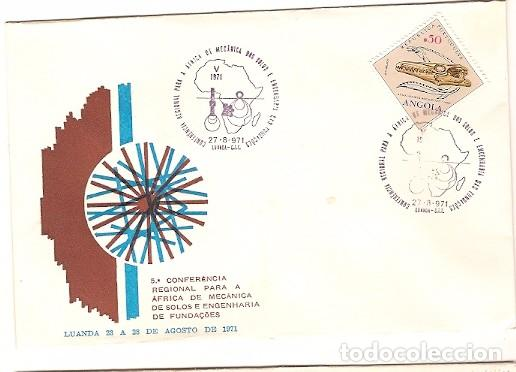 ANGOLA & ULTRAMAR, V CONFERENCIA REGIONAL PARA ÁFRICA, EL MECANICA DEL SUELOS, LUANDA 1971 (560) (Sellos - Extranjero - Europa - Portugal)