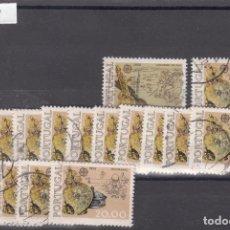 Sellos: PORTUGAL 1291/2 LOTE DE 15 SERIES USADA, TEMA EUROPA 1976. Lote 83794500