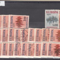 Sellos: PORTUGAL 1150/2 LOTE DE 25 SERIES USADA, TEMA EUROPA 1972. Lote 83795608