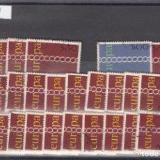 Sellos: PORTUGAL 1107/9 LOTE DE 25 SERIES USADA, TEMA EUROPA 1971. Lote 83795808