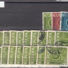 Sellos: PORTUGAL 993/5 LOTE DE 20 SERIES USADA, TEMA EUROPA 1966. Lote 83796560