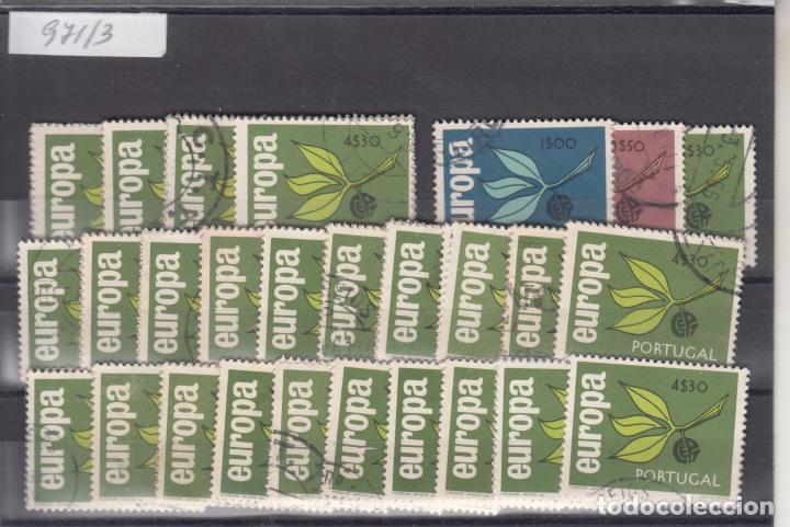 PORTUGAL 971/3 LOTE DE 25 SERIES USADA, TEMA EUROPA 1965 (Sellos - Extranjero - Europa - Portugal)