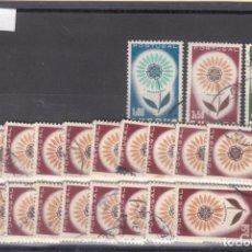 Sellos: PORTUGAL 944/6 LOTE DE 20 SERIES USADA, TEMA EUROPA 1964. Lote 83797040