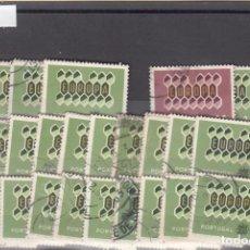 Sellos: PORTUGAL 908/10 LOTE DE 25 SERIES USADA, TEMA EUROPA 1962. Lote 83797916