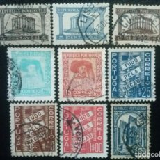 Sellos: PORTUGAL , YVERT Nº 576 - 584 , 1935-36 , SERIE COMPLETA. Lote 86177632