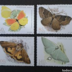 Sellos: MADEIRA.(PORTUGAL) YVERT 200/03. SERIE COMPLETA NUEVA SIN CHARNELA. FAUNA. INSECTOS. MARIPOSAS.. Lote 92313290