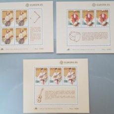 Sellos: 3X HOJITAS BLOQUE PORTUGAL MADEIRA AÇORES 1985. Lote 213855638