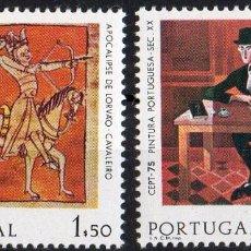 Sellos: PORTUGAL AÑO 1975 YV 1261/62*** EUROPA - PINTURA - ARTE. Lote 97873891