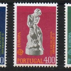 Sellos: PORTUGAL AÑO 1974 YV 1211/13*** EUROPA - ESCULTURA - ARTE. Lote 97876143