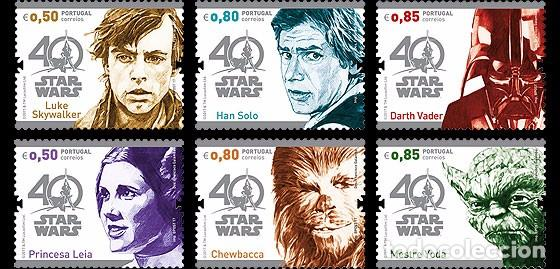 Portugal 2017 Star Wars 40 Years Stamp Set Sold