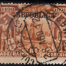 Sellos: PORTUGAL. YVERT 191 USADO. BARCOS.. Lote 98540667
