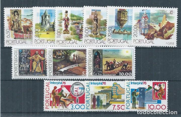 R25/ PORTUGAL, LOTE FICHA CON 3 SERIES, MNH**, CATALOGO 19,25€ (Sellos - Extranjero - Europa - Portugal)