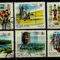 Sellos: PORTUGAL 1980- YV 1476/81 AFI 1474/79 (CONFERENCIA MUNDIAL DE TURISMO) (SERIE USADA. Lote 103233322