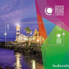 Sellos: PORTUGAL 2017 - CASCAIS 2018 - EUROPEAN YOUTH CAPITAL SHEET MNH. Lote 103866827