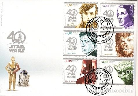 PORTUGAL & FDC 40 ANOS STAR WARS 2017 (787) (Sellos - Extranjero - Europa - Portugal)