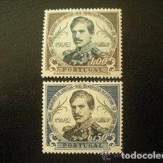 Sellos: PORTUGAL 1961 IVERT 884/5 * CENTENARIO FACULTAD DE LETRAS DE LISBOA - REY DON PEDRO V - MONARQUIA . Lote 111046655