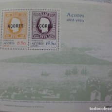 Sellos: PORTUGAL-AZORES - HOJA BLOQUE Nº 29 - **AZORES 1868-1980** - AÑO 1980. Lote 111352535