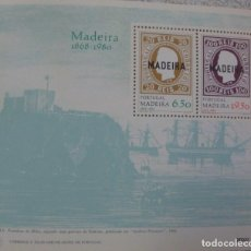 Sellos: PORTUGAL-MADEIRA - HOJA BLOQUE Nº 30 - **MADEIRA 1868-1980** - AÑO 1980. Lote 111352771
