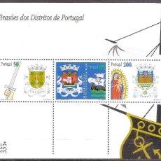 Sellos: PORTUGAL,HOJITA BLOQUE,NUEVA**,AFINSA 202.. Lote 111455067