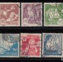 Sellos: PORTUGAL , 1941 YVERT Nº 616 / 625 . Lote 113870011