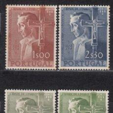 Sellos: PORTUGAL , 1955 YVERT Nº 813 / 816 / * / , . Lote 113985407