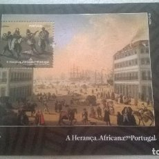 Sellos: PORTUGAL 2009-AFRICAN HERITAGE IN PORTUGAL - MINIATURE SHEET. Lote 115247719