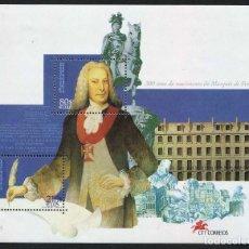 Sellos: PORTUGAL - 300 AÑOS NACIMIENTO DEL MARQUES DE POMBAL - HB (1999) **. Lote 115690275