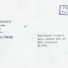 Sellos: SOBRE CAIXA GERAL DEPÓSITOS CIRCULADO CON MARCA -TAXA PAGA- SIN FECHADOR. CIRCA 1980. SAVINGS BANK.. Lote 116076939
