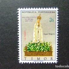 Sellos: TIMOR 1967 50ÈME ANNIVERSAIRE DE L'APPARITION DE LA VIERGE DE FATIMA YVERT 342 ** MNH. Lote 213680015