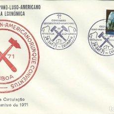Sellos: AÑO 1971. COIMBRA. MATASELLOS. CONGRESO LUSO-HISPANO-AMERICANO DE GEOLOGÍA ECONÓMICA. CIENCIAS.. Lote 123986667