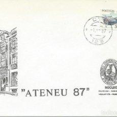 Sellos: AÑO 1987. CTT . MATASELLOS. SELLO BARCA. SOBRE ATENEU 87.. Lote 124002951