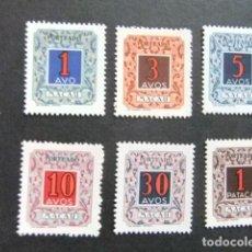 Sellos: MACAO MACAU 1952 SELLOS TAX DE ANGOLA - LEYENDA MACAO YVERT TAX 56 / 61 * MH. Lote 126599419