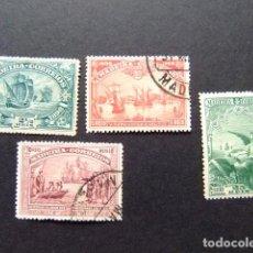 Sellos: MADEIRA 1898 VASCO DE GAMA YVERT 34 / 37 FU. Lote 126940059