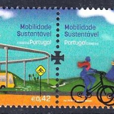 Sellos: PORTUGAL 2015 MOVILIDAD SOSTENIBLE - ENERGIAS RENOVABLES. Lote 128123295