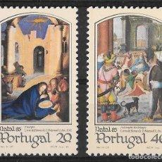 Sellos: PORTUGAL 1985. NAVIDAD. PINTURAS. YT 1651-52 NUEVO (MNH). Lote 133149418
