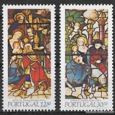 Sellos: PORTUGAL 1983. NAVIDAD. VIDRIERAS. YT 1594-95 NUEVO (MNH). Lote 133150358