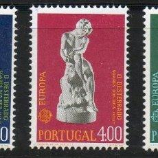 Sellos: PORTUGAL AÑO 1974 YV 1211/13*** EUROPA - ESCULTURA - ARTE. Lote 135355390
