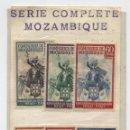 Sellos: MOZAMBIQUE COMPANY 202-207 SET MONARQUÍA PORTUGUESA, 1941. REY JUAN IV - JINETE. Lote 138111286