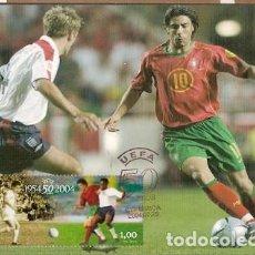 Sellos: PORTUGAL & MAXIMO, 50 ANIVERSARIO DE U.E.F.A 1954-2004, LISBOA 2004 (6881). Lote 140738094