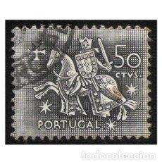 Sellos: PORTUGAL 1953- MI 795, YT 777. CABALLERO A CABALLO. REY DINIS. USADO. Lote 142566482