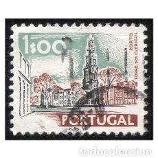 Sellos: PORTUGAL 1973. MI 1156XII, YT 1137. MONUMENTOS. TORRE DE CLÉRIGOS. USADO. Lote 142566550