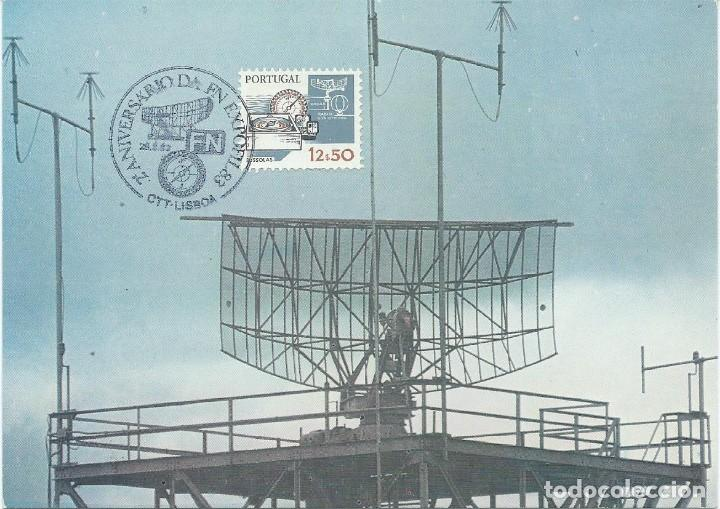 1983. PORTUGAL. MÁXIMA/MAXIMUM CARD. TRIPLE. RADAR. TELECOMUNICACIONES/TELECOMMUNICATIONS. (Sellos - Extranjero - Europa - Portugal)