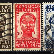 Sellos: 1934 PORTUGAL YVERT YT 572/574 MICHEL MI 578/580 USADOS - EXPOSICIÓN COLONIAL. Lote 149924490
