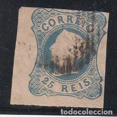 Sellos: PORTUGAL 2 USADA, DOÑA MARIA II, CABEZA EN RELIEVE,. Lote 151355062