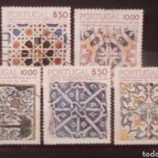 Sellos: PORTUGAL ARTESANIA SERIE DE SELLOS USADOS. Lote 151493104