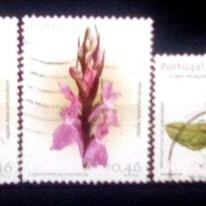 Sellos: PORTUGAL FLORES SERIE DE SELLOS USADOS. Lote 151972329