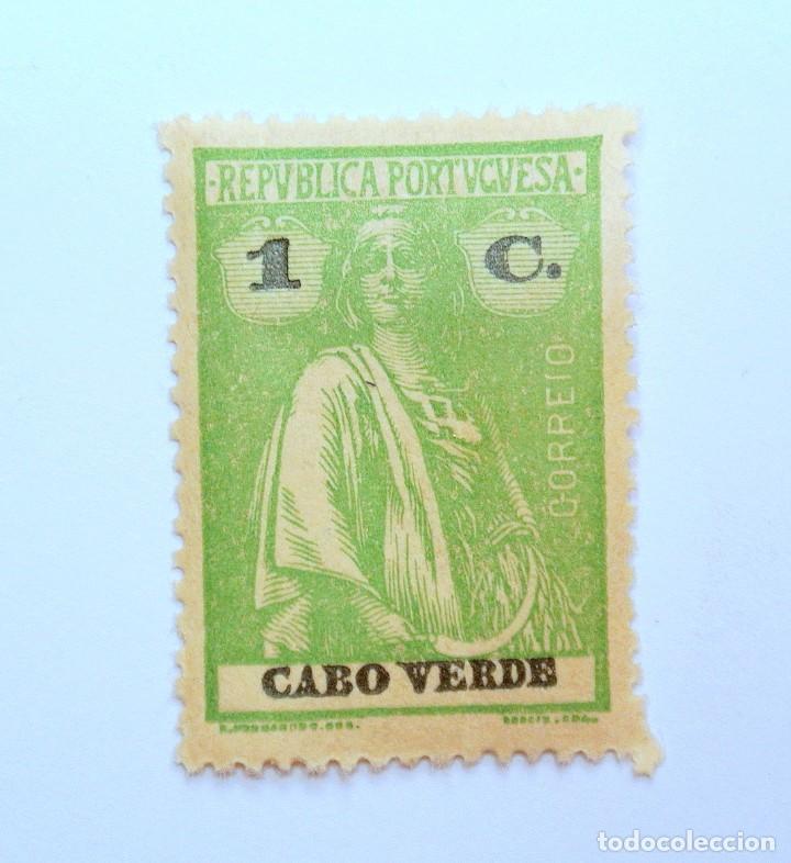SELLO POSTAL CABO VERDE 1921, 1 C. CERES , SIN USAR (Sellos - Extranjero - Europa - Portugal)