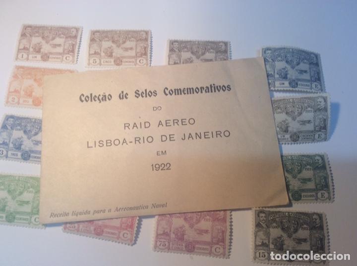 Sellos: Portugal 1922 RAID AÉREO LISBOA RÍO DE JANEIRO - Foto 7 - 153520806