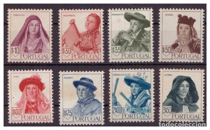 PORTUGAL AÑO 1947 YV 688/95***/* TOCADOS REGIONALES (II) - TRAJES - FOLKLORE (Sellos - Extranjero - Europa - Portugal)